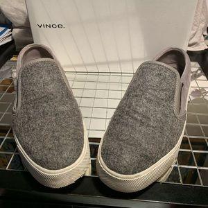 Vince gray suede sneakers